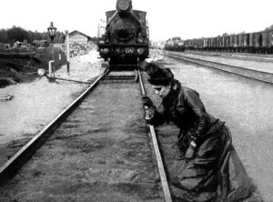 Anna Karenina throws herself in front of a train.